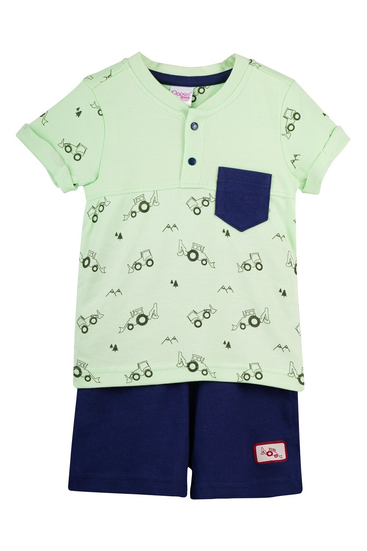 TARKOV Green Top and Shorts Half sleeve for Baby Boys