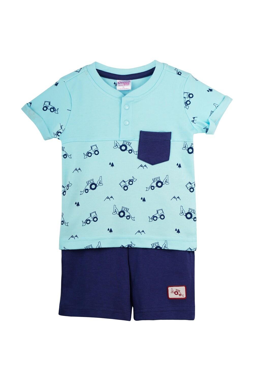 TARKOV Blue Top and Shorts Half sleeve for Baby Boys