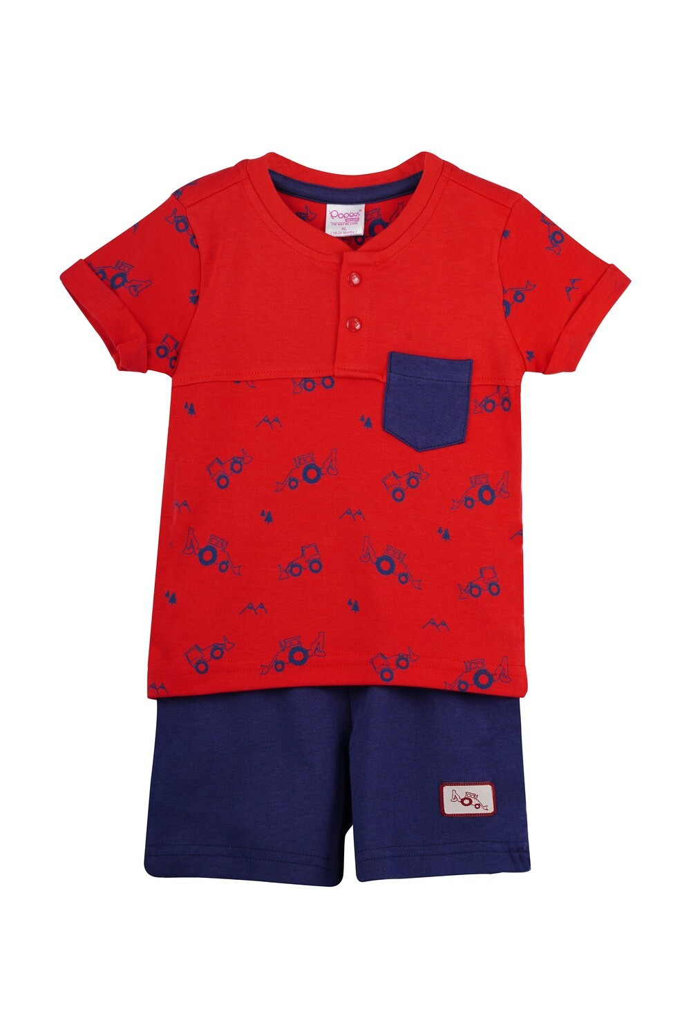 TARKOV True Red Top and Shorts Half sleeve for Baby Boys