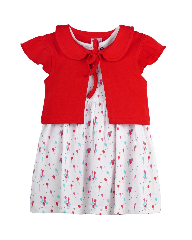 EMMY LOU JANE True Red Frock/Panties Sleeveless Back Half Open Interlock GIRLS