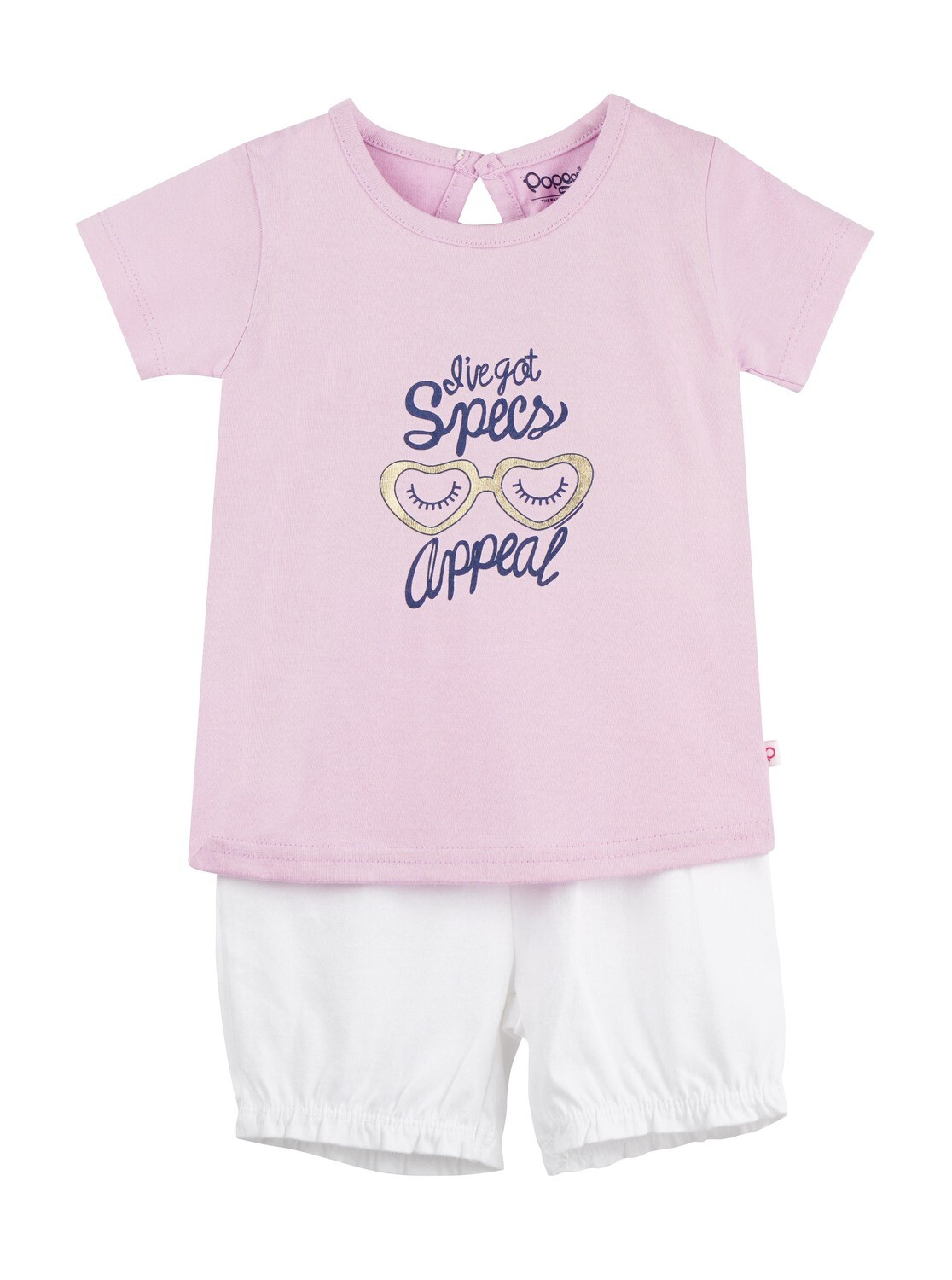 LEVINE Orchid Bouquet Half sleeve Top and Shorts for Baby Girls