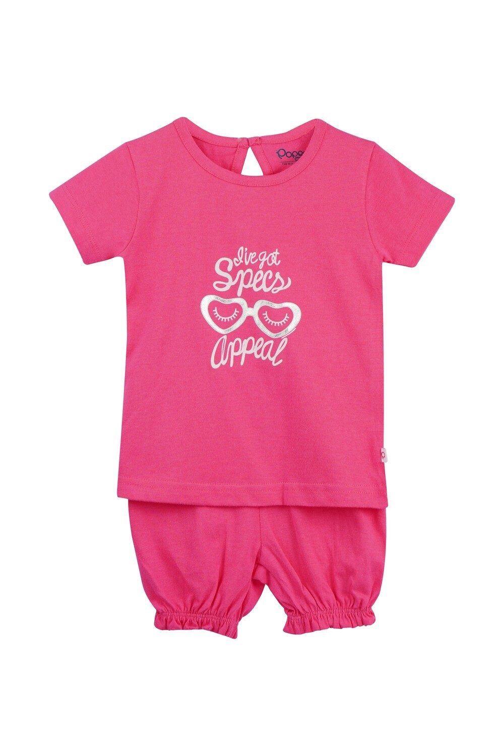 LEVINE Fuchsia Half sleeve Top and Shorts for Baby Girls