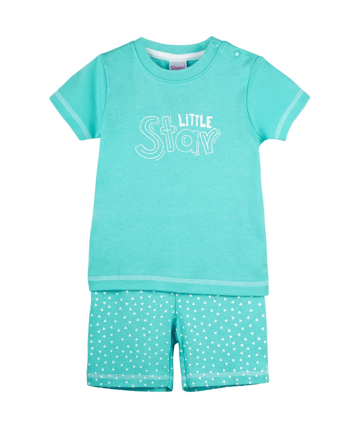 POP-HS-B-TS-003 Water Fall Half Sleeve Top and Shorts for Baby Boys