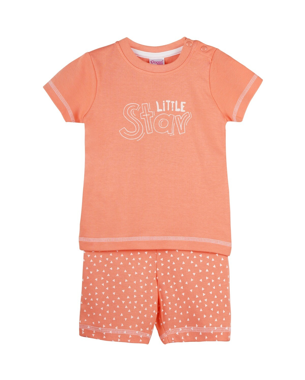 POP-HS-B-TS-003 Desert Flower Half Sleeve Top and Shorts for Baby Boys