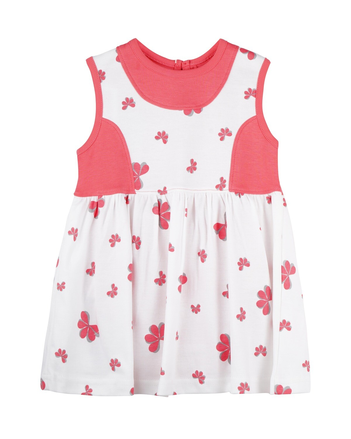 ESTELLE Calipso Coral Sleeveless Frock and Panties for Baby Girls