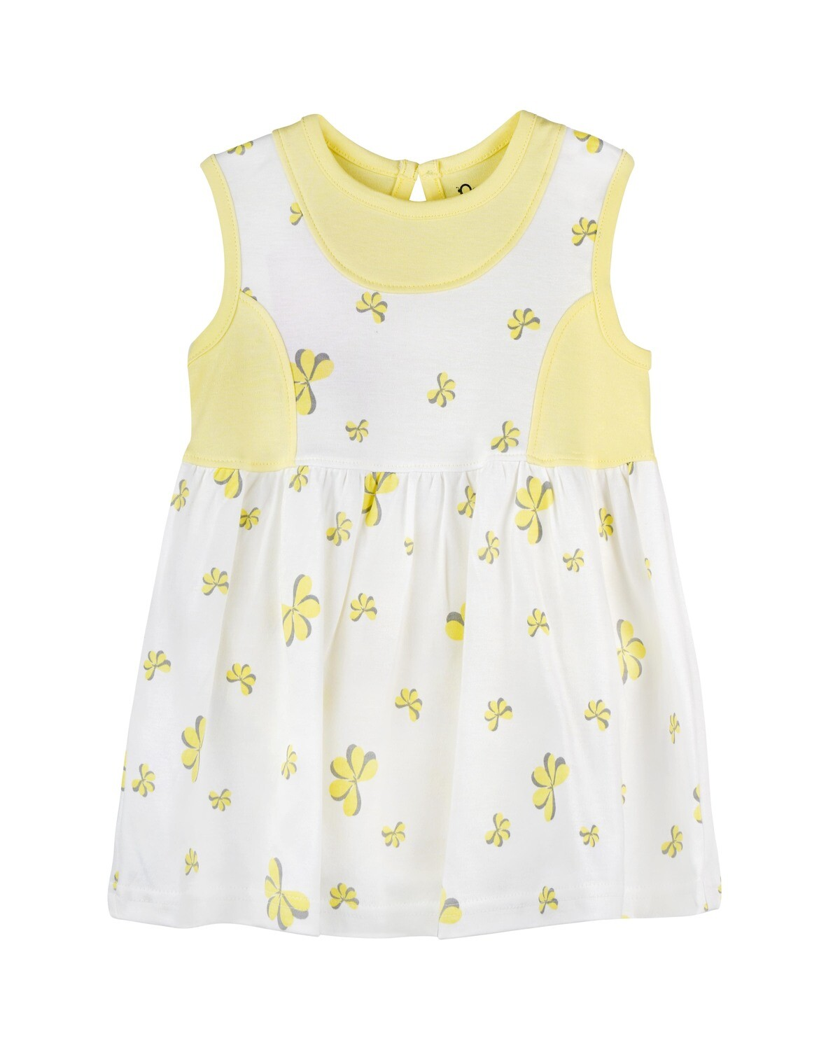 ESTELLE Tender Yellow Sleeveless Frock and Panties for Baby Girls