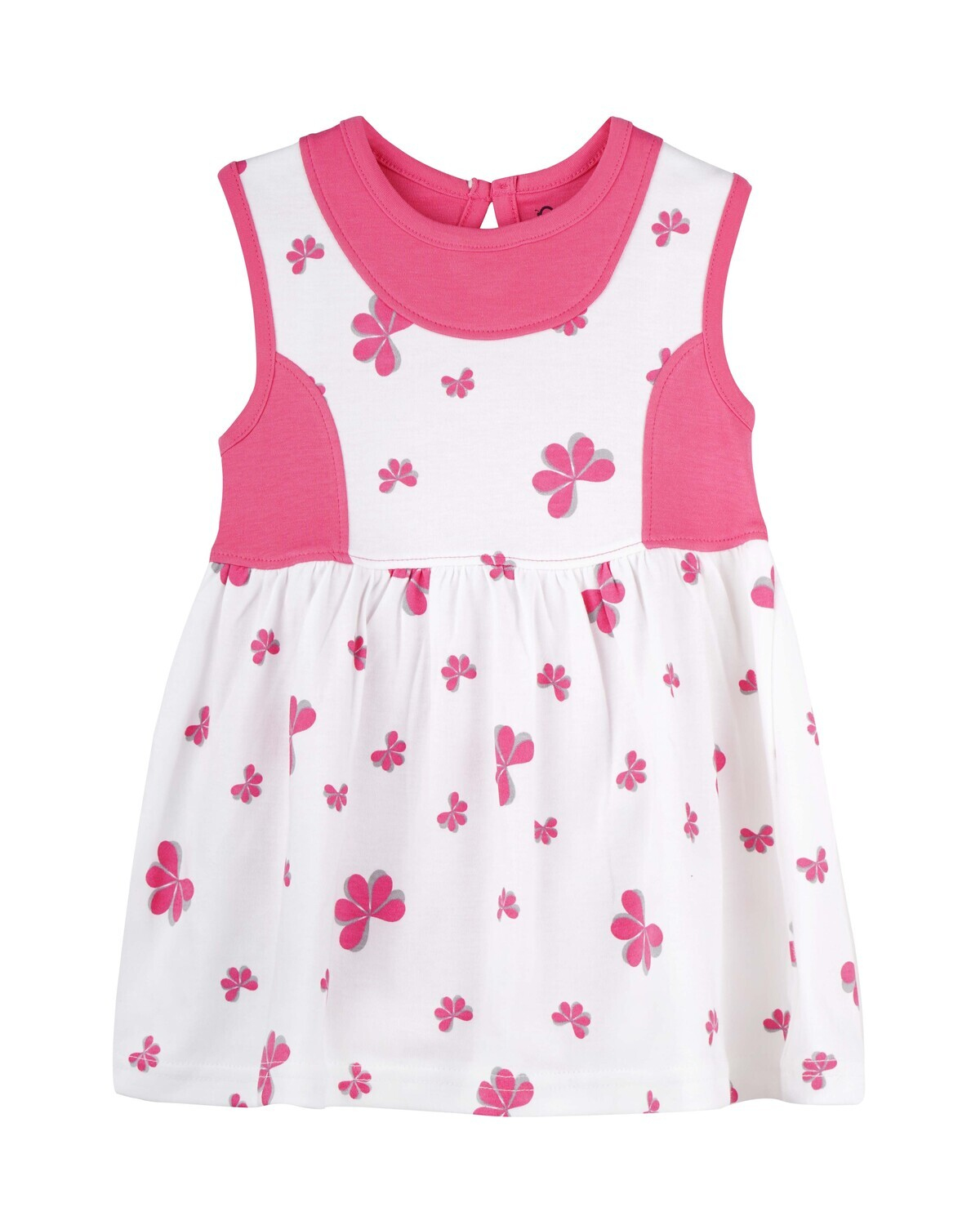 ESTELLE Fuchsia Sleeveless Frock and Panties for Baby Girls