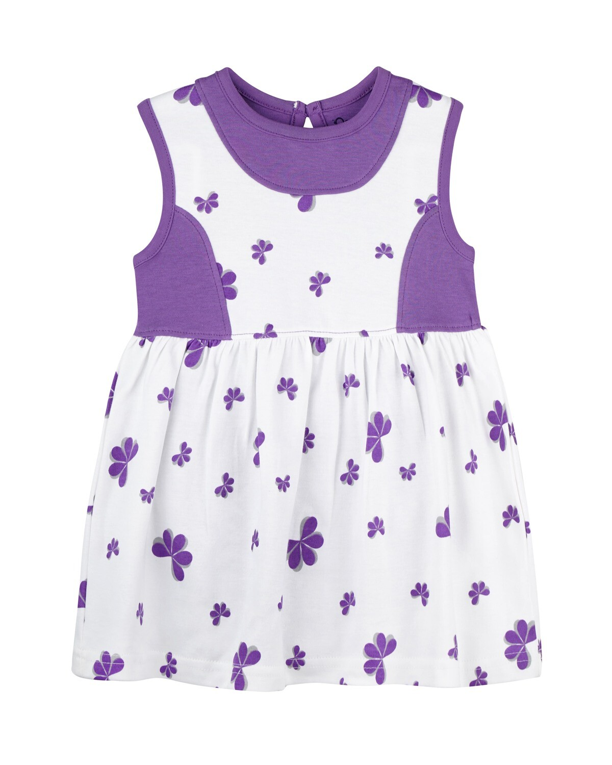 ESTELLE Lavender Sleeveless Frock and Panties for Baby Girls
