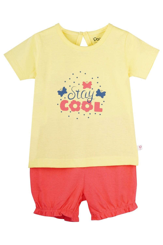 STRAWBERRY Banana Half sleeve Top and Panties for Baby Girls