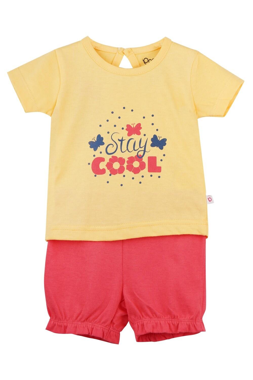 STRAWBERRY Lemon Verbena Half sleeve Top and Panties for Baby Girls