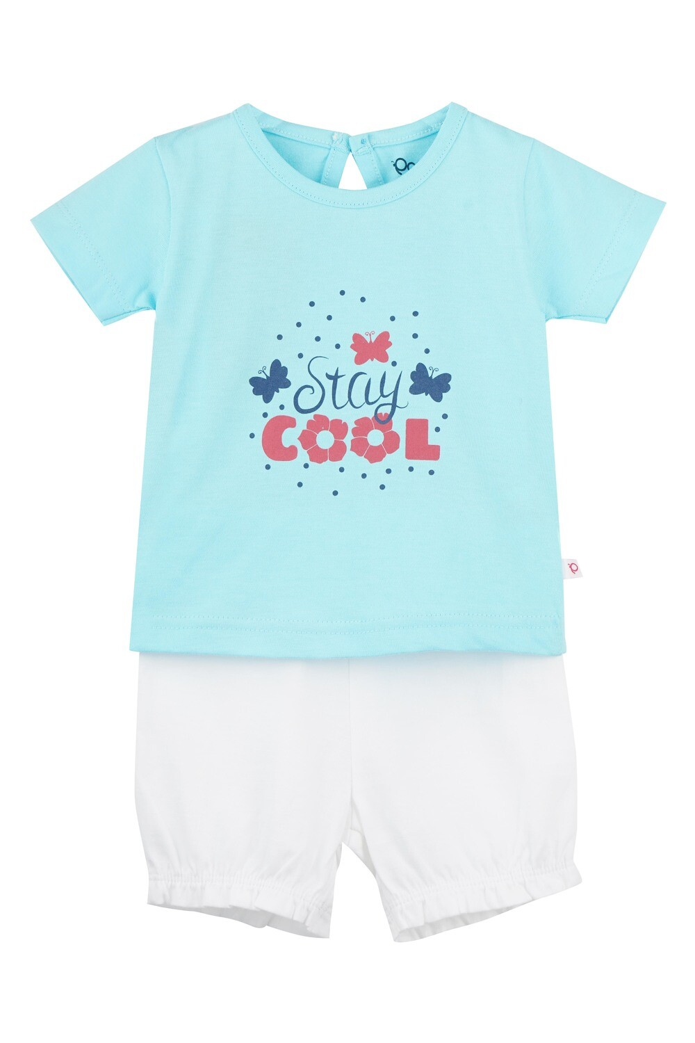 STRAWBERRY Tanager Turquoise Half sleeve Top and Panties for Baby Girls