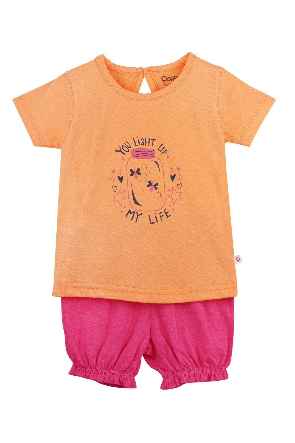 UNICORN Cantaloupe Half sleeve Top and Trouser for Baby Girls