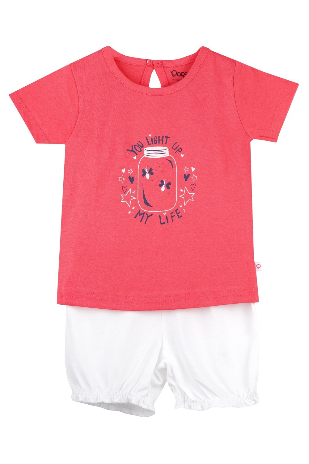 UNICORN Paradise Pink Half sleeve Top and Trouser for Baby Girls