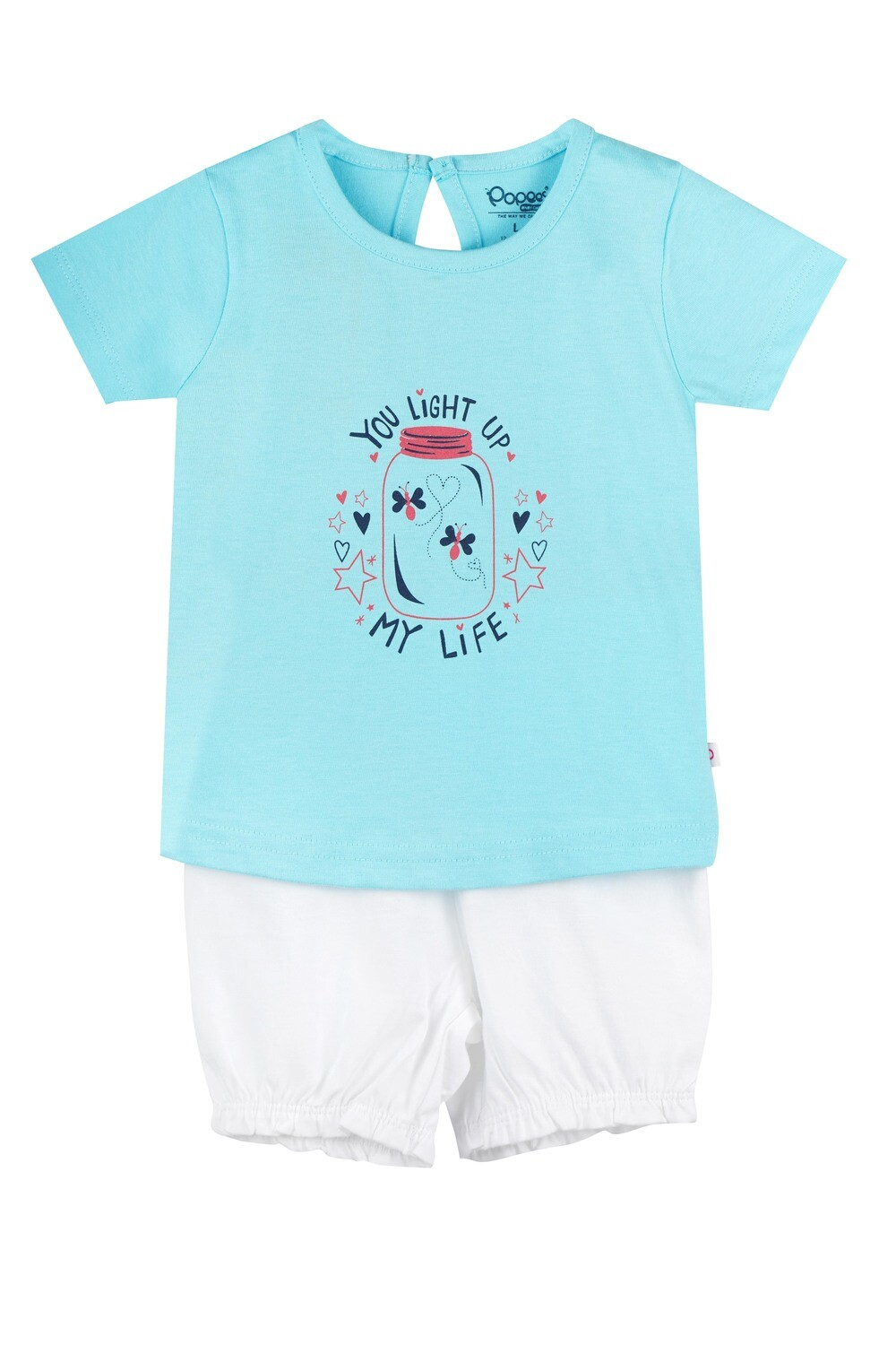 UNICORN Tanager Turquoise Half sleeve Top and Trouser for Baby Girls