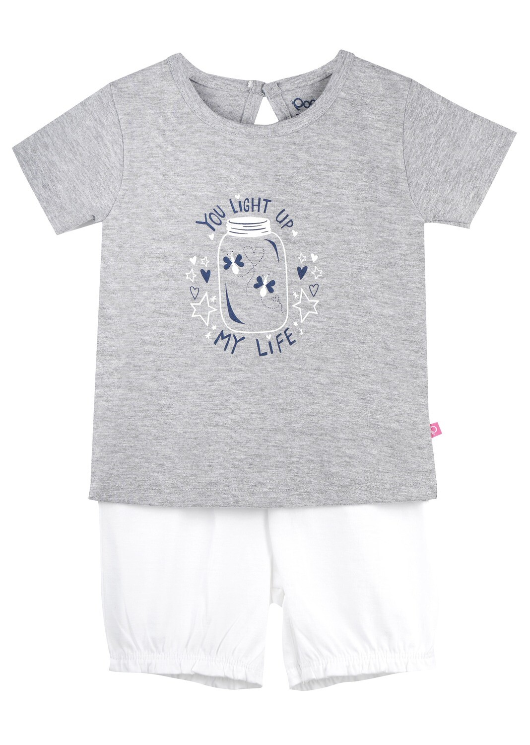 UNICORN Grey Marl Half sleeve Top and Trouser for Baby Girls