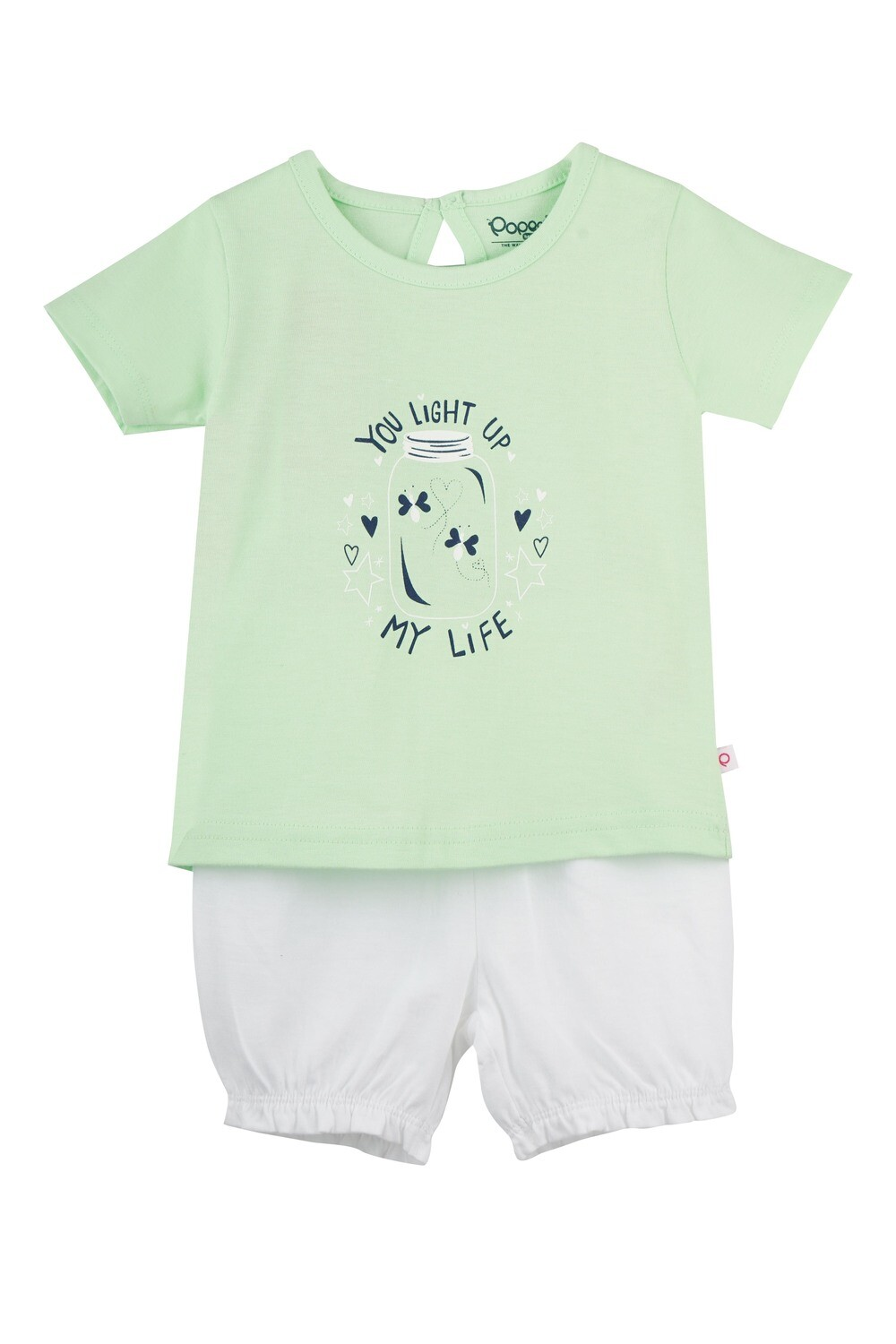 UNICORN Patina Green Half sleeve Top and Trouser for Baby Girls