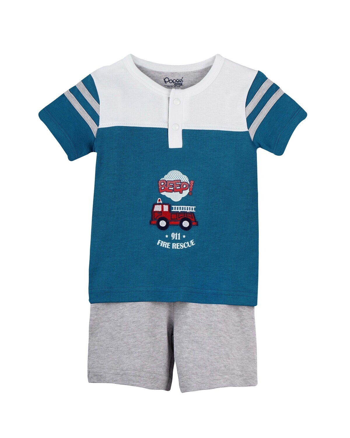 DARVI Celestial Blue Half Sleeve Top and Trouser for Baby Boys