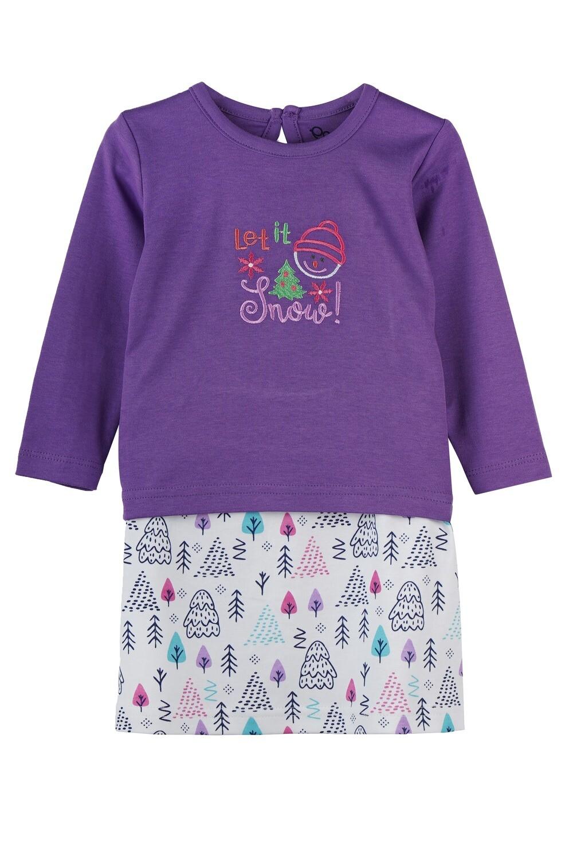 BELIEN Lavender Full Sleeve Top and Skirt for Baby Girls