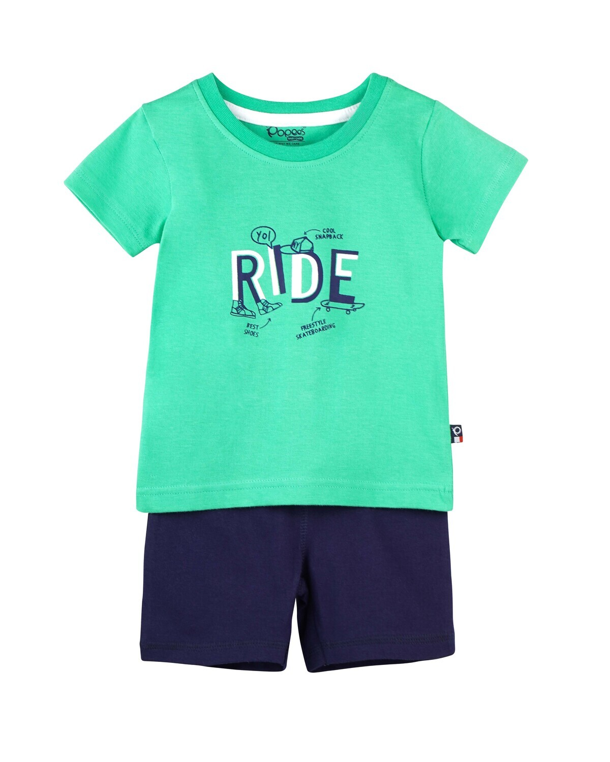 CADOC SPRING BOUQUET Half Sleeve Top and Shorts for Baby Boys