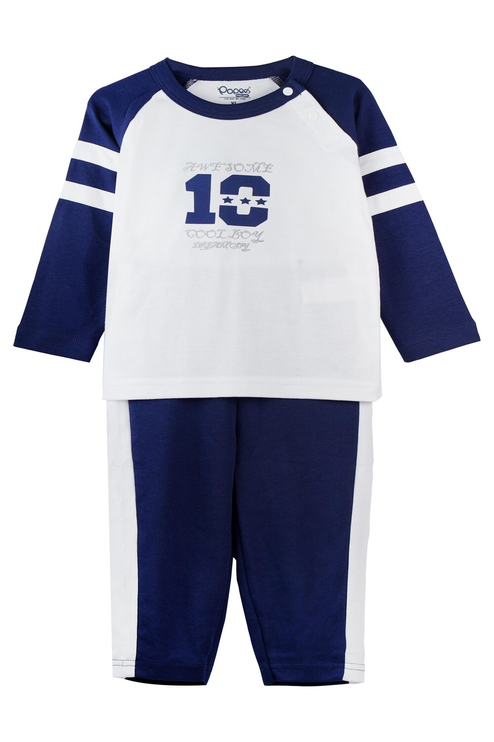 ELIGE NAVY BLUE Full Sleeve Top and Pant for Baby Boys