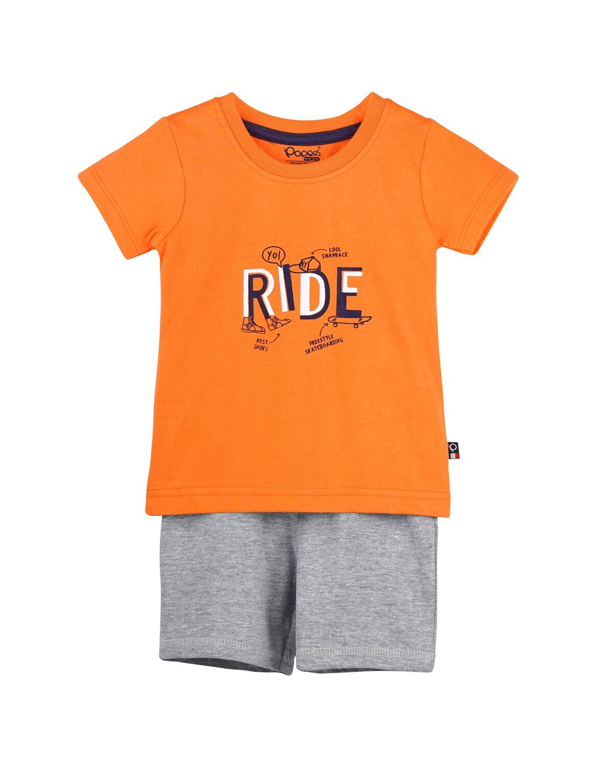CADOC NECTARINE Half Sleeve Top and Shorts for Baby Boys