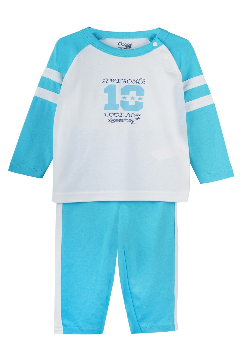 ELIGE BACHELOR BLUE Full Sleeve Top and Pant for Baby Boys