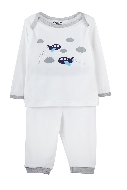 KEDRICK WHITE Full Sleeve Top and Pant for Baby Boys