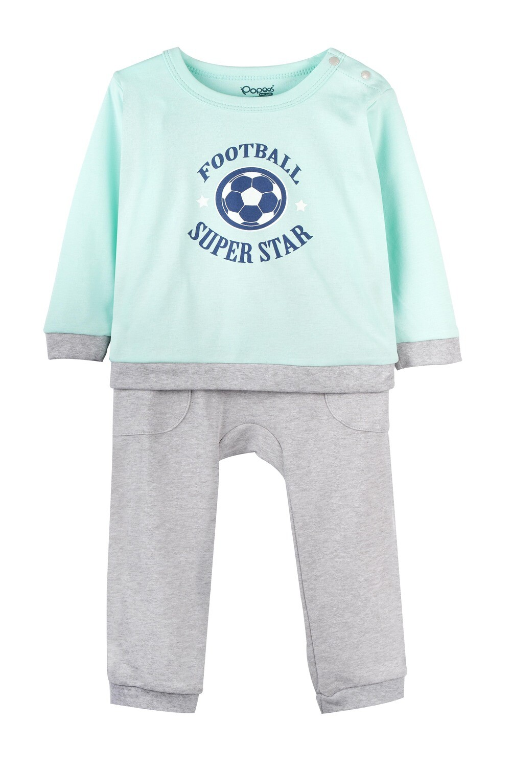 KIRTON YUCCA GREEN Full Sleeve Shoulder Open Top and Pant for Baby Boys