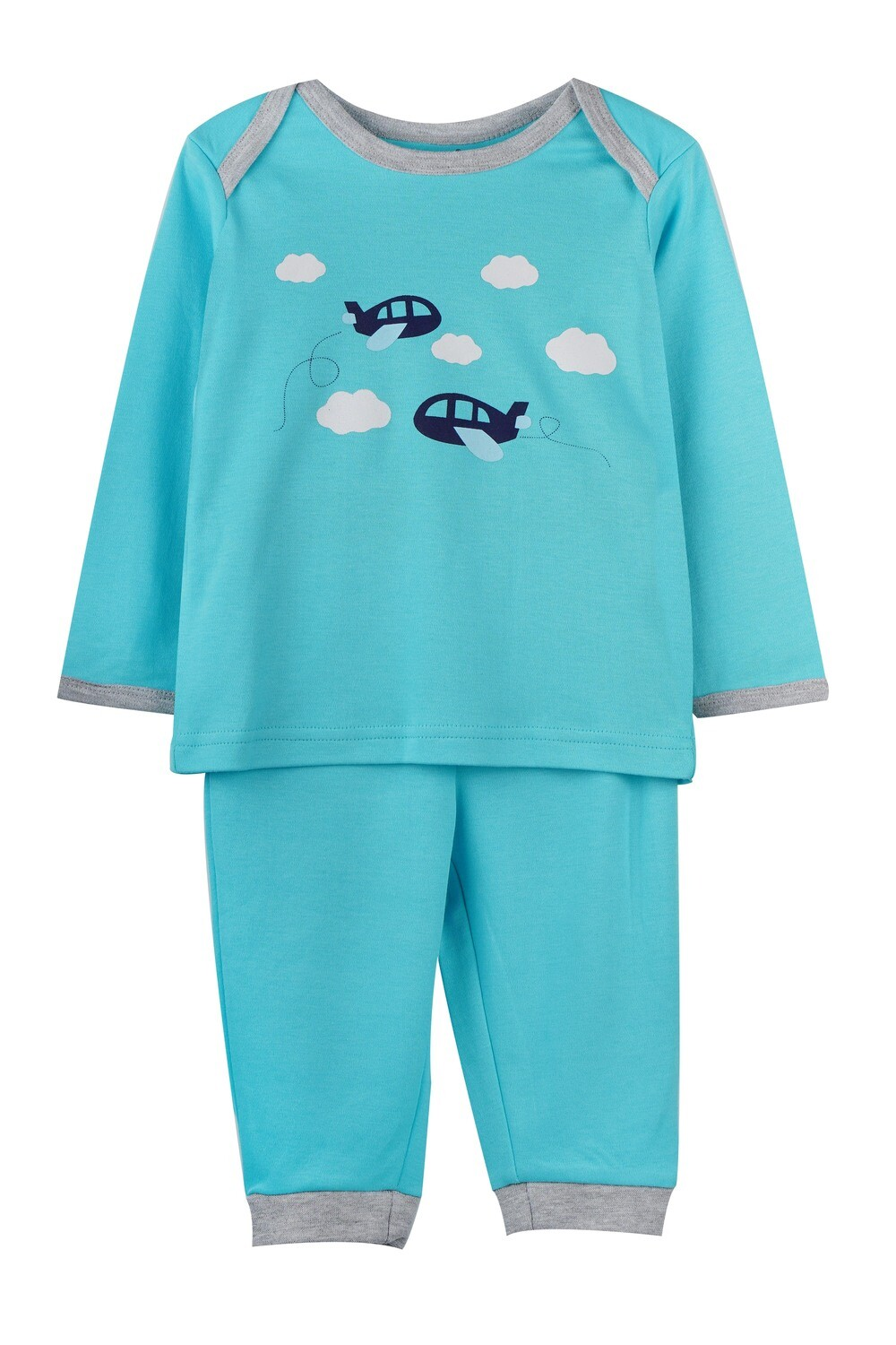 KEDRICK BLUE RADIANCE Full Sleeve Top and Pant for Baby Boys