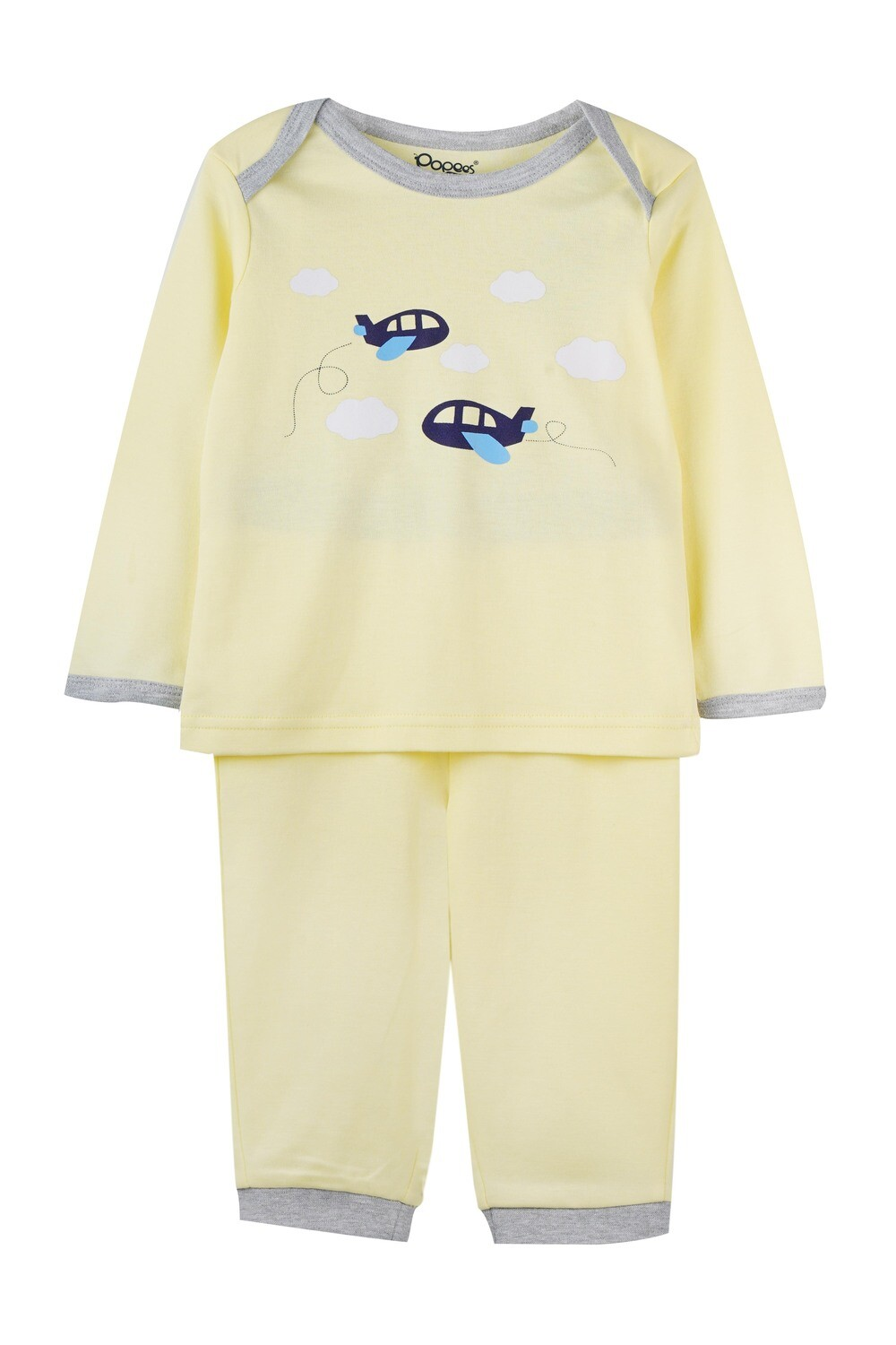 KEDRICK WAX YELLOW Full Sleeve Top and Pant for Baby Boys