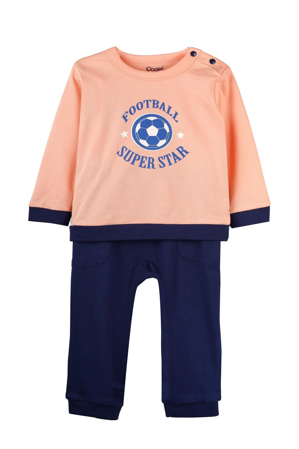KIRTON PEACH Full Sleeve Shoulder Open Top and Pant for Baby Boys