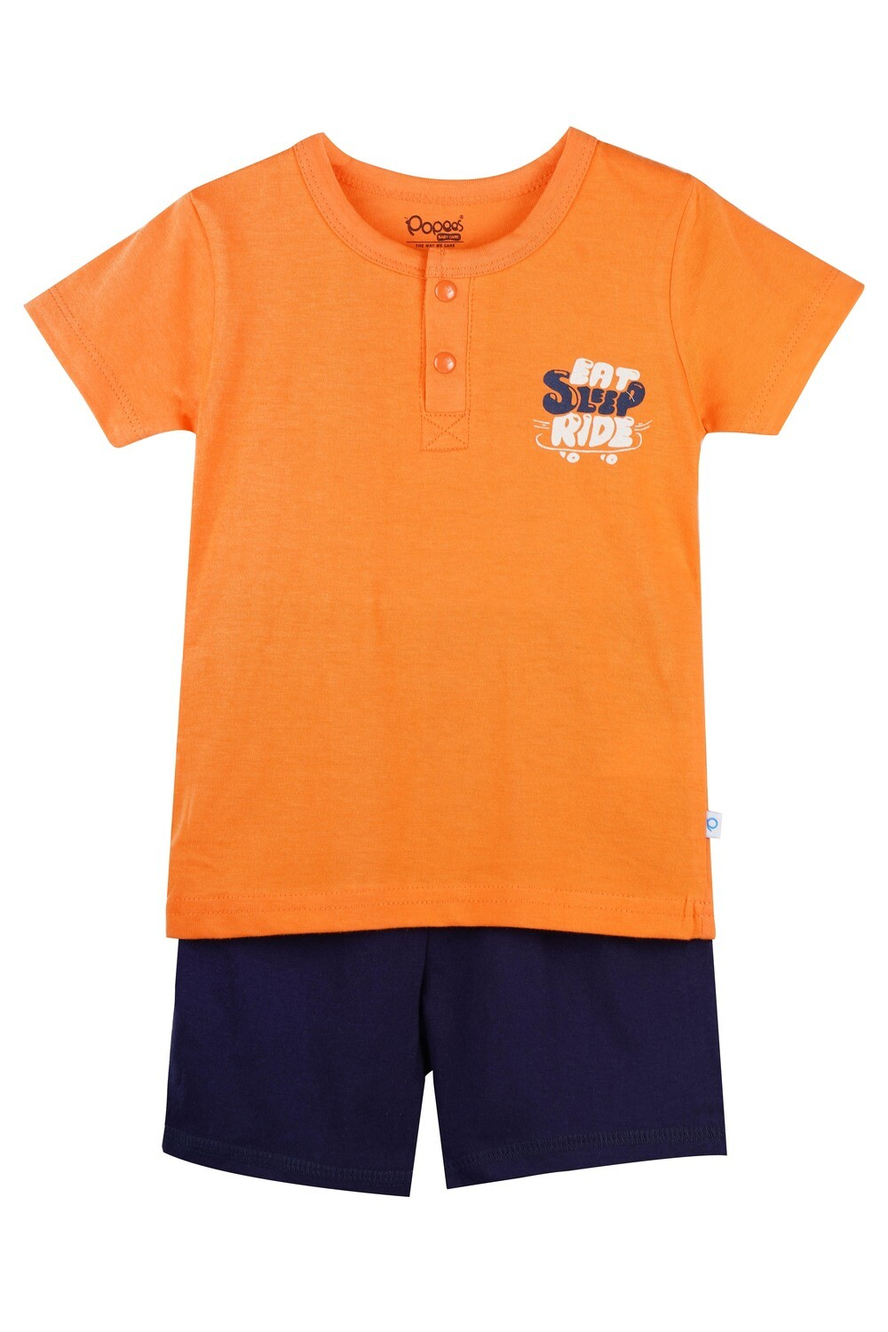 LENIN NECTARINE Half Sleeve Front Half Open Top and Trouser SINGLE JERSEY for Baby Boys