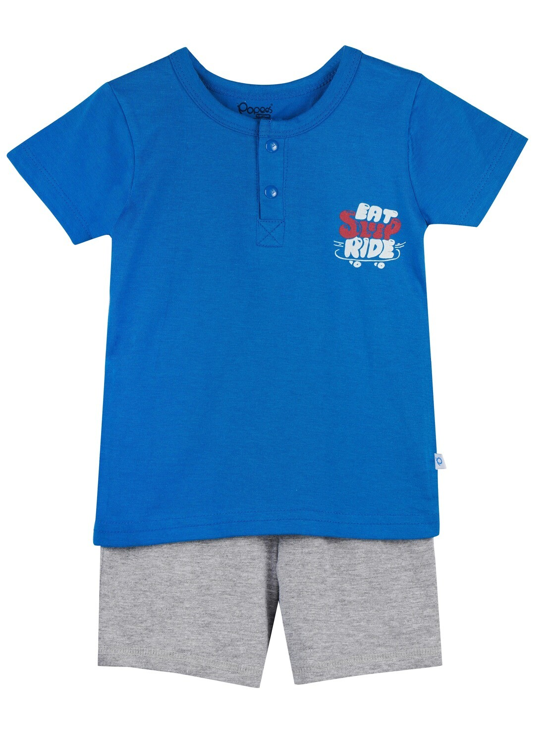 LENIN INDIGO BUNTING Half Sleeve Front Half Open Top and Trouser SINGLE JERSEY for Baby Boys