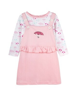 MELISANDRE ROSE Full Sleeve Dungaree for Baby Girls