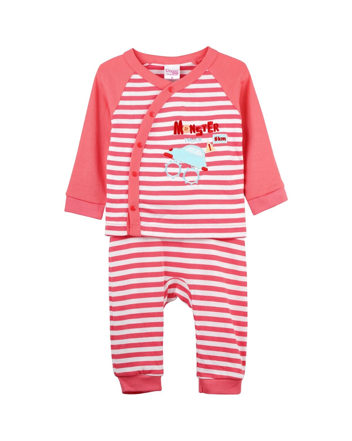 CHON Coral Top/Trouser Half Sleeves Front Open Interlock for Baby BOYS