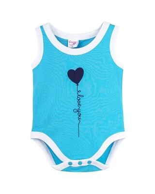 SPOCK BLUE Top/Trouser Half Sleeves Front Open Interlock for both Baby Boys and Girls UNISEX