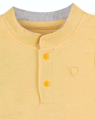TOXO Yellow Top/Trouser Sleeveless Front Open Interlock Boys