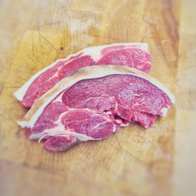 Wolds Lamb leg Steaks