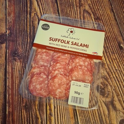 Suffolk Red Wine & Peppercorn Salami