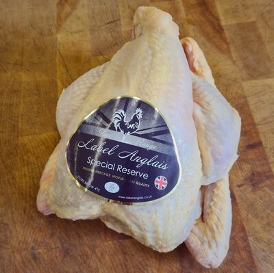 Label Anglais Free Range Chicken