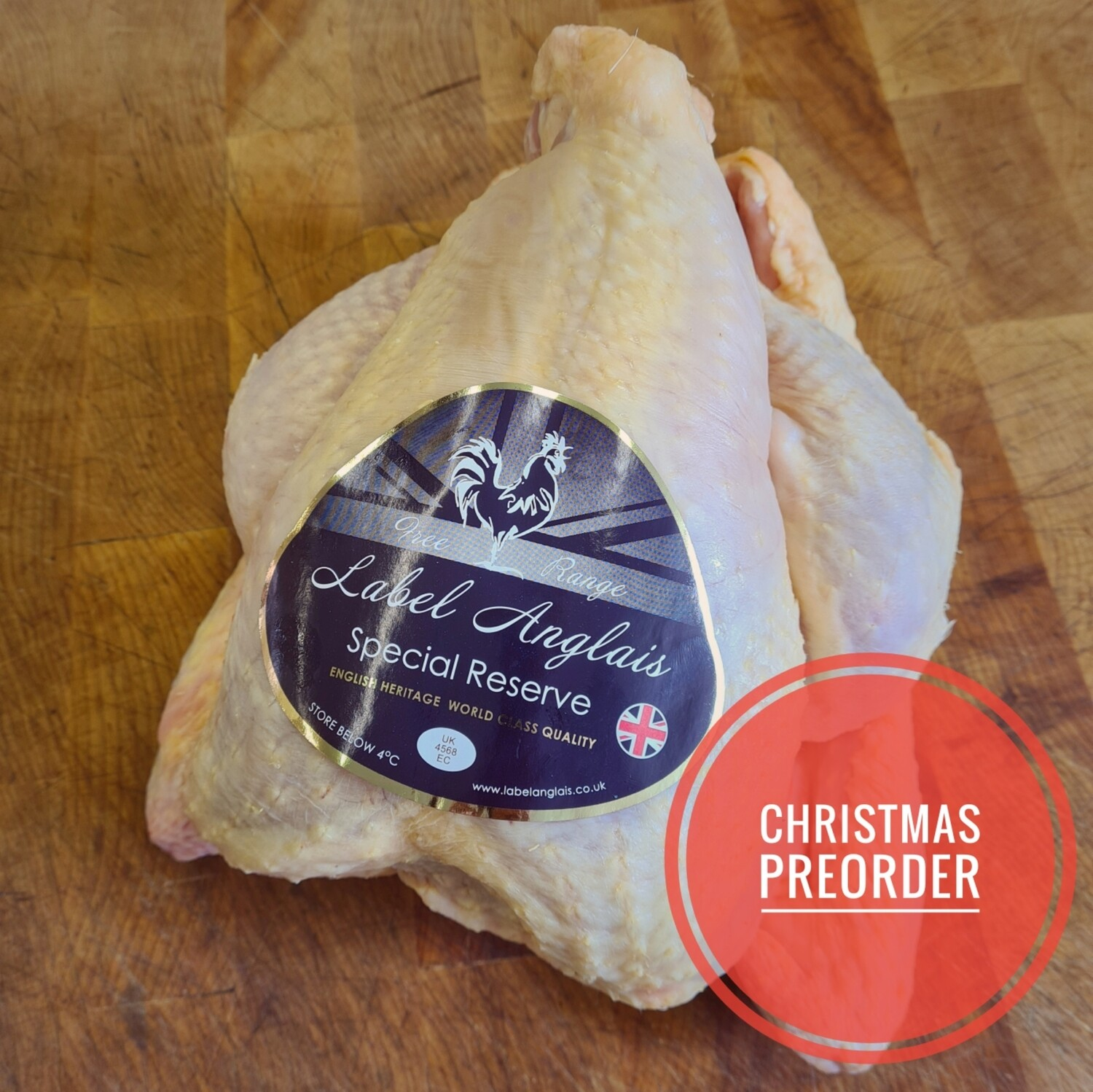 Preorder Label Anglais Free Range Chicken
