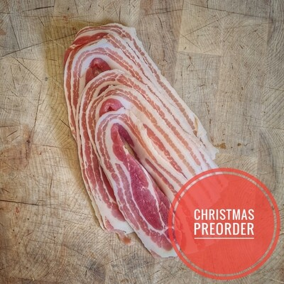 Preorder Dry Cured Streaky Bacon