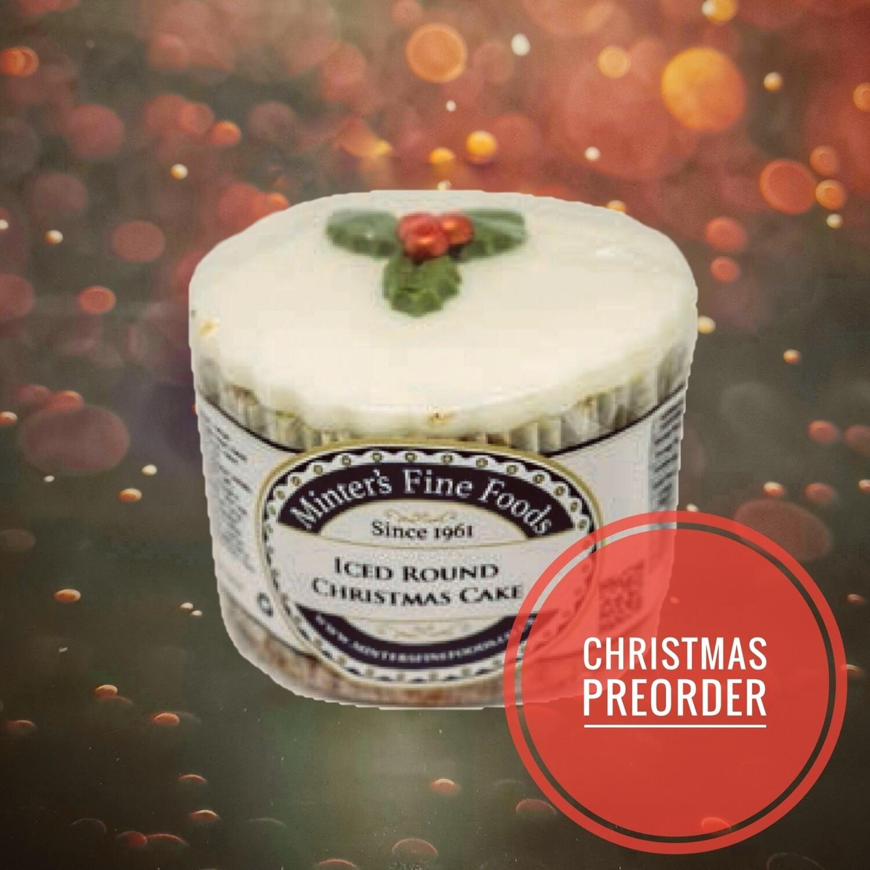 Preorder Iced Round Christmas Cake