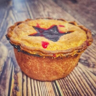 Turkey, Stuffing & Cranberry Pie