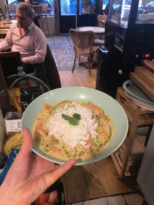 Curry de légumes, riz