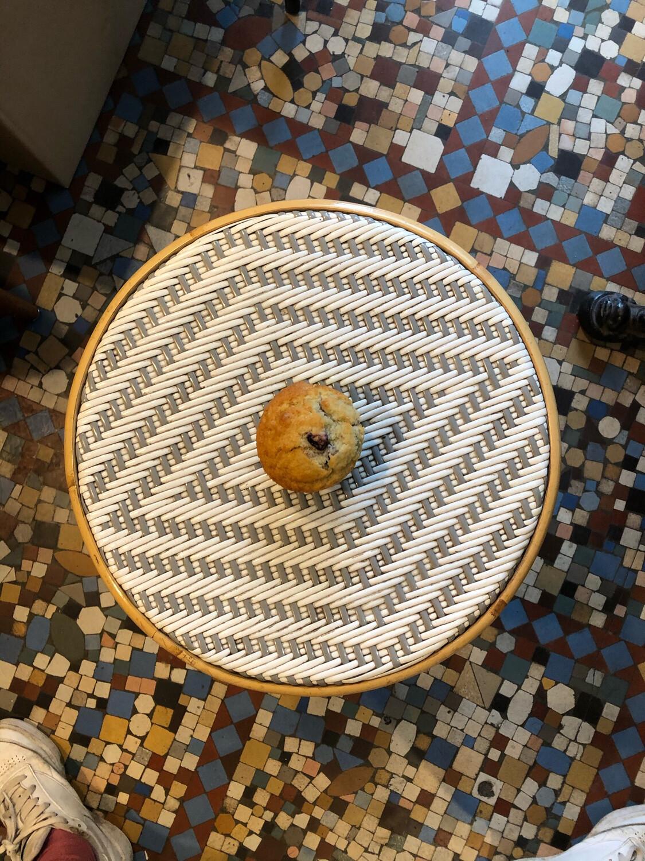 Muffin myrtille et pépites de chocolat