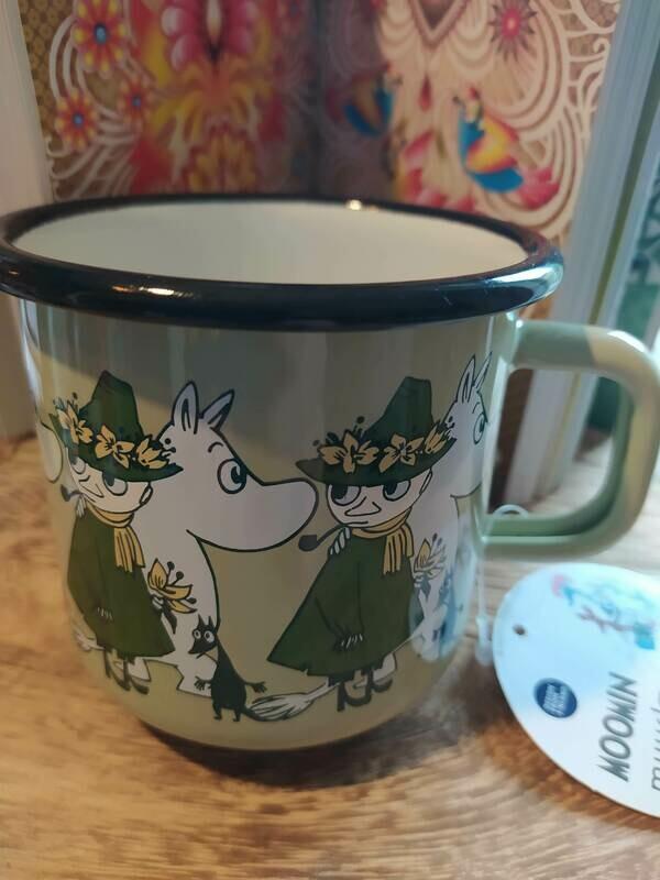 Muurla - Henkelbecher - Moomin Friends - grün