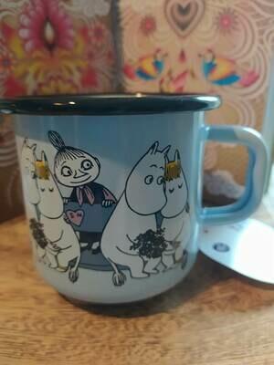 Muurla - Henkelbecher - Moomins Friends - hellblau