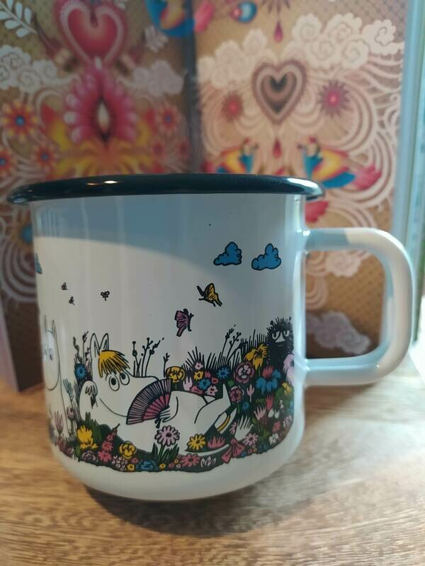 Muurla - Kerze im Henkelbecher - Moomin Characters - weiß