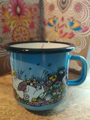 Muurla - Kerze im Henkelbecher - Moomin - Hellblau 250ml
